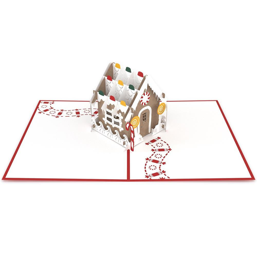 Gingerbread House Classic Pop-Up Card - Zero Point Crystals