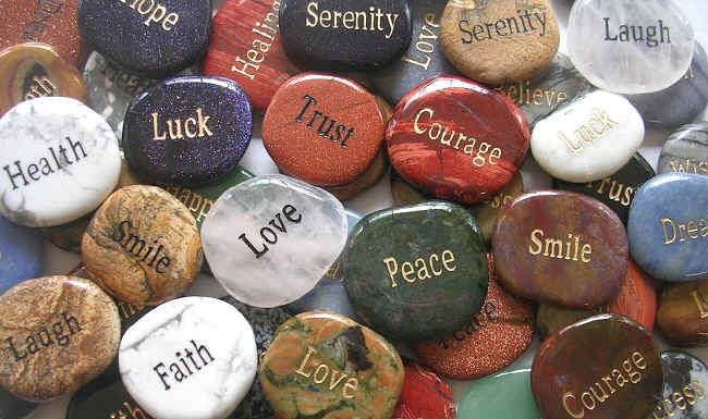 Inspirational Word Stone - Zero Point Crystals