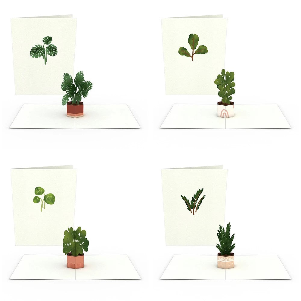 Plants Pop Up Note Cards - Zero Point Crystals
