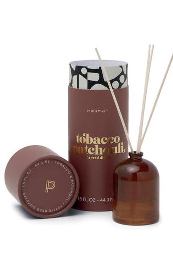 Petite Reed Diffuser - Tobacco Patchouli - Zero Point Crystals