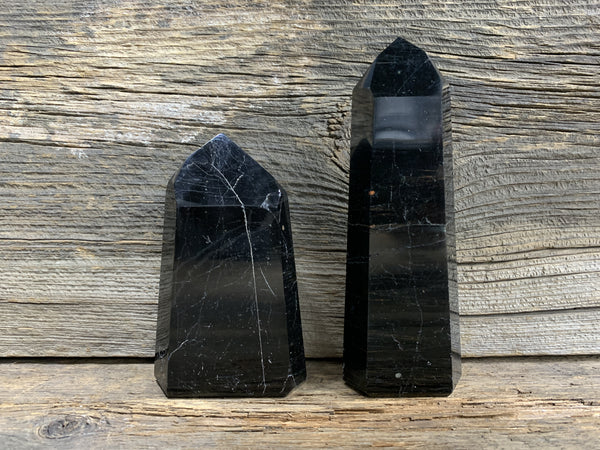 Black Tourmaline Obelisk 7912 - Zero Point Crystals