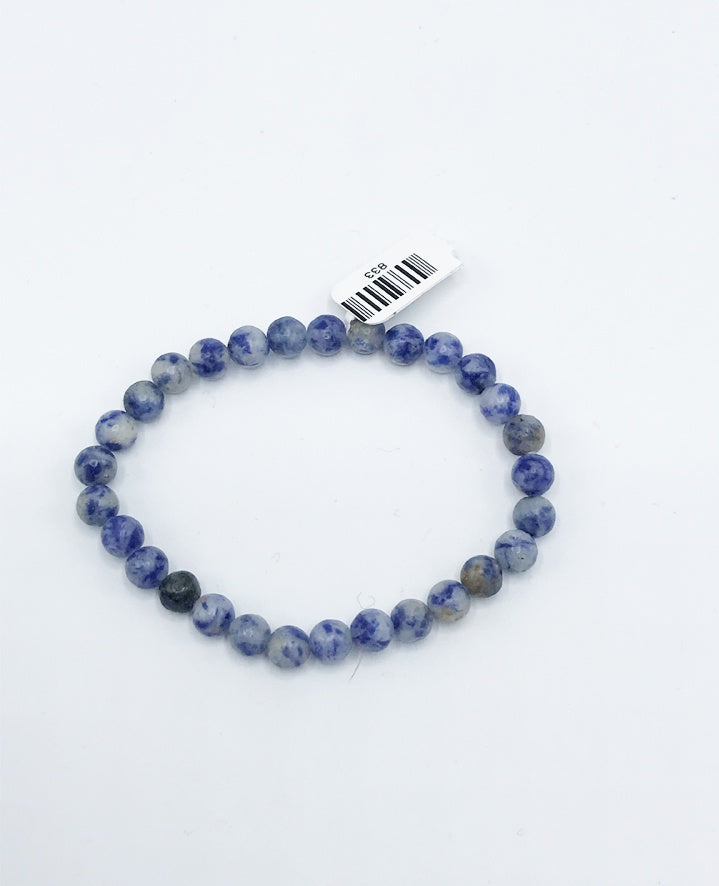Sodalite Bead (Stretch) Bracelet - Zero Point Crystals