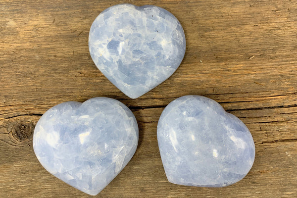 Blue Calcite Heart - Zero Point Crystals