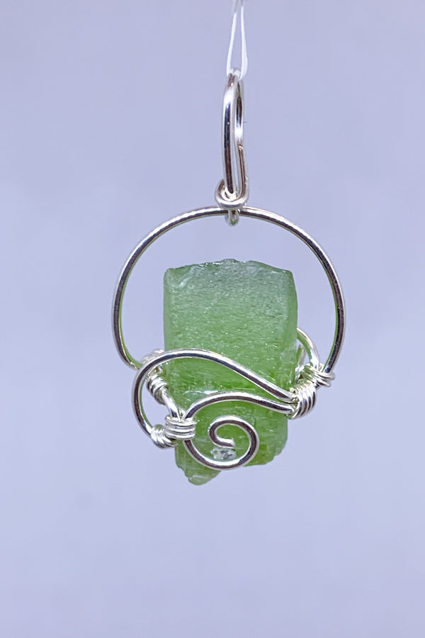 Peridot Wire Wrap Pendant - Zero Point Crystals
