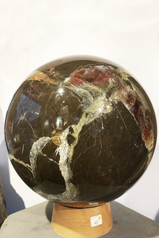 Agate (Thunder Egg) Sphere - Zero Point Crystals