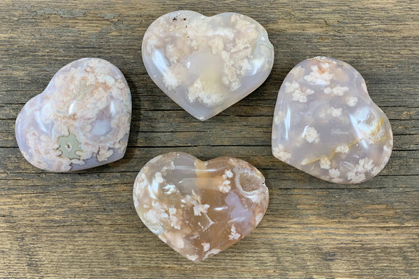 Flower Agate Heart - Zero Point Crystals