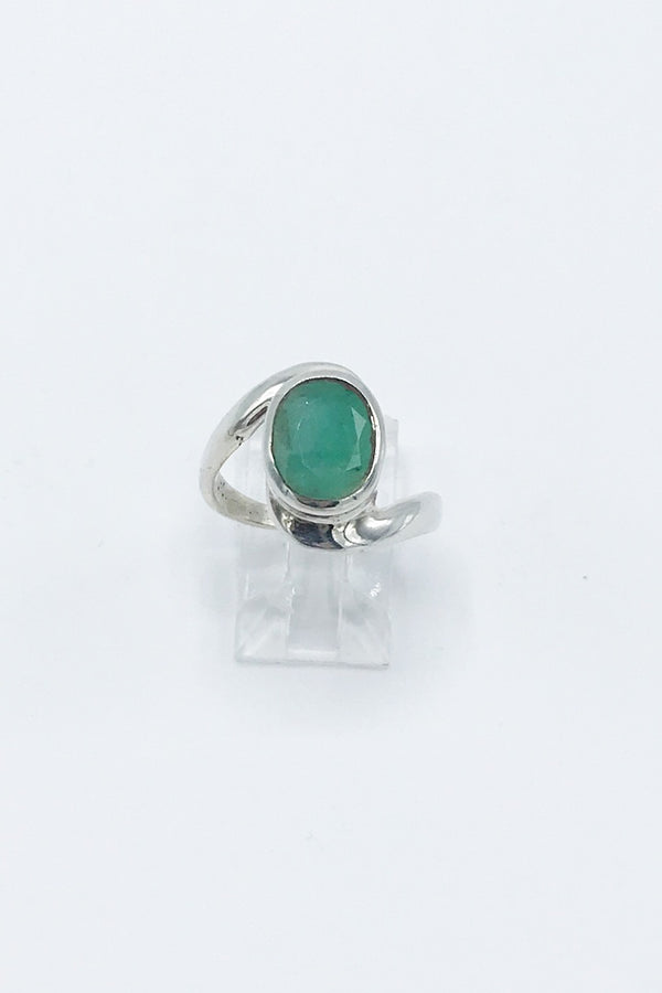Emerald Swirl Ring - Zero Point Crystals
