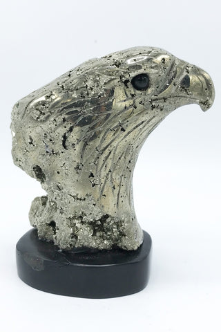 Pyrite Eagle Carving - Zero Point Crystals