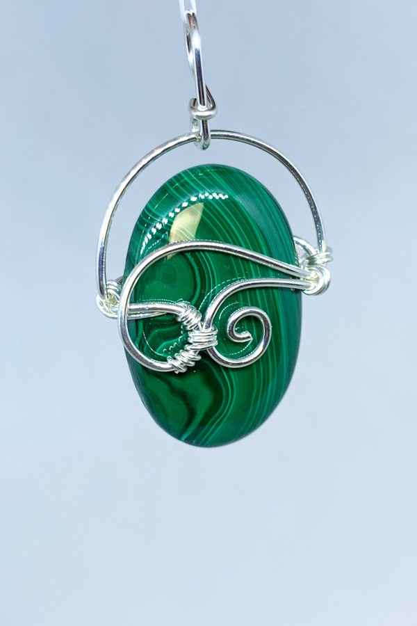 Malachite Wire Wrap Pendant - Zero Point Crystals