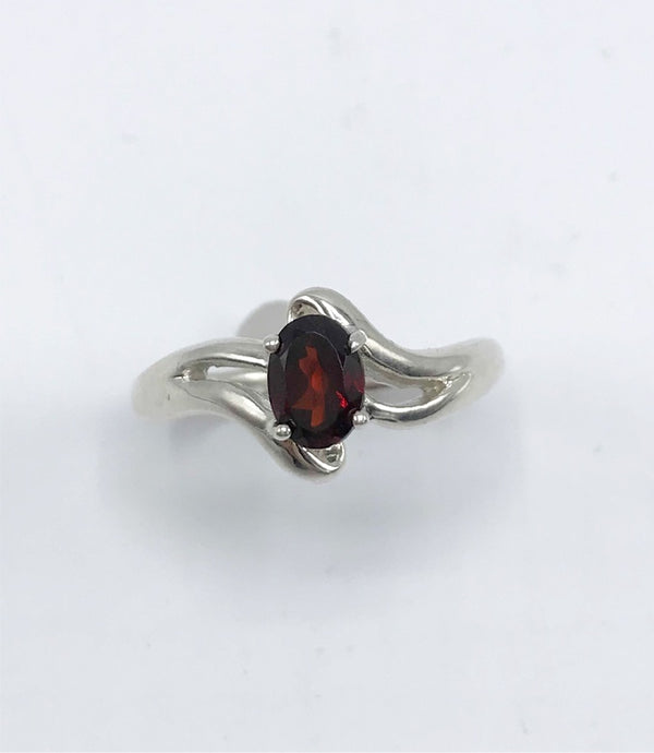 Faceted Idaho Garnet Ring - Zero Point Crystals