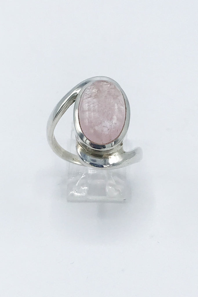 Oval Morganite Ring - Zero Point Crystals