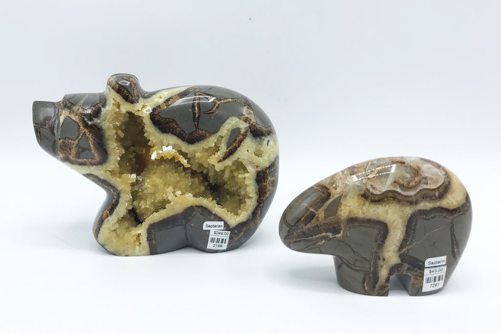 Septarian Carved Bear - Zero Point Crystals
