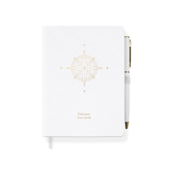 Faux Leather Journal with Slim Pen - Zero Point Crystals