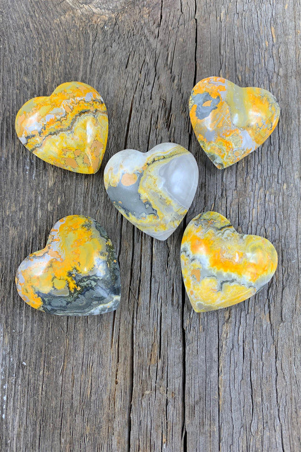 Bumblebee Jasper Heart - Zero Point Crystals