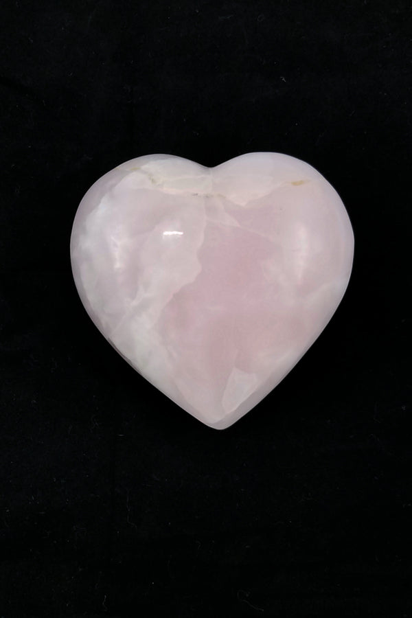 Pink Calcite Heart - Zero Point Crystals