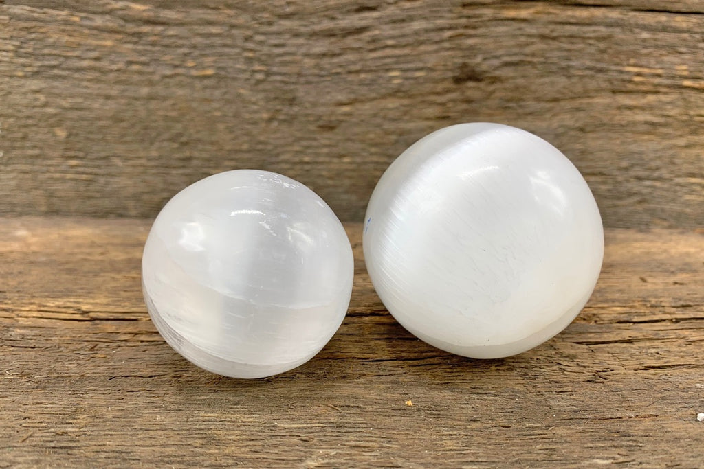 Selenite Sphere - Zero Point Crystals