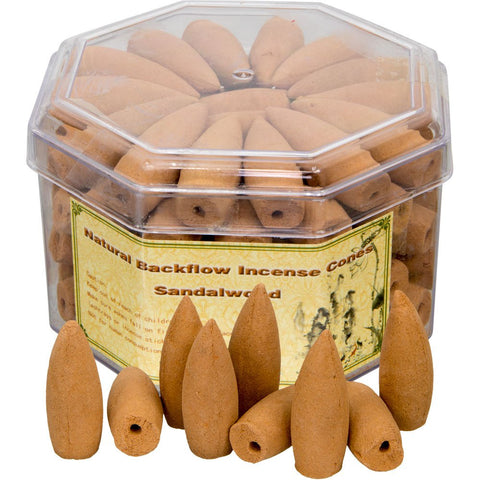 Sandalwood Backflow Incense Cones - Zero Point Crystals