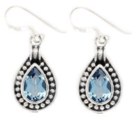 Blue Topaz Teardrop Earring - Zero Point Crystals