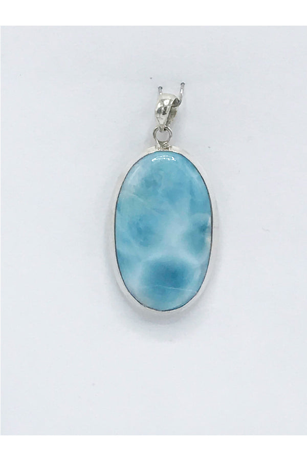 Larimar Oval Pendant - Zero Point Crystals