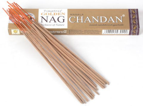 Golden Nag Chandan Incense - Zero Point Crystals