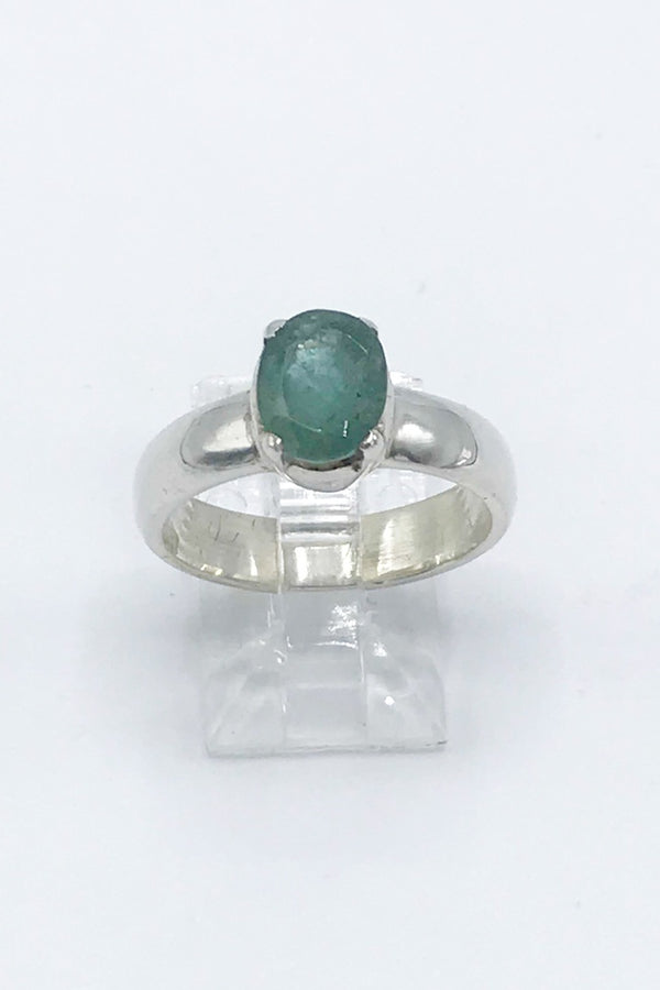 Emerald Oval Ring - Zero Point Crystals