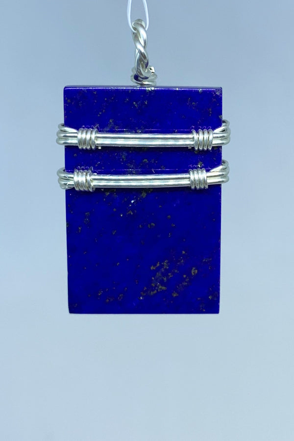Lapis Wire Wrap Pendant - Zero Point Crystals