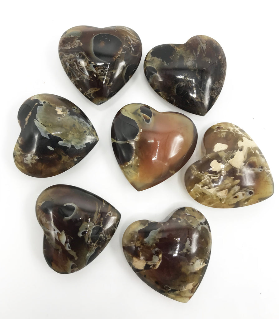Amber Heart 40mm - Zero Point Crystals