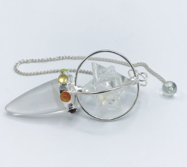 Quartz Merkaba Spin Pendulum - Zero Point Crystals