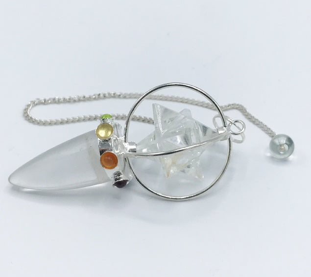Quartz Merkaba Pendulum - Zero Point Crystals