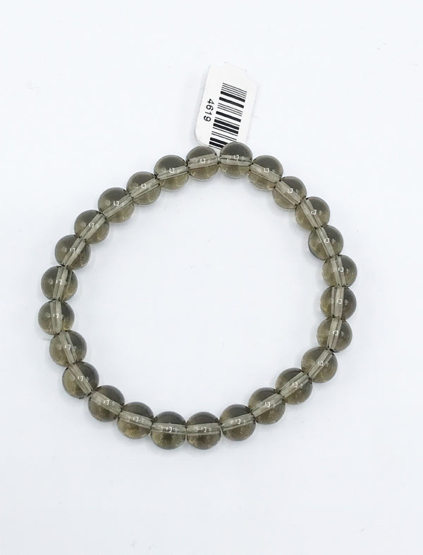 Smokey Quartz Stretch Bracelet - Zero Point Crystals