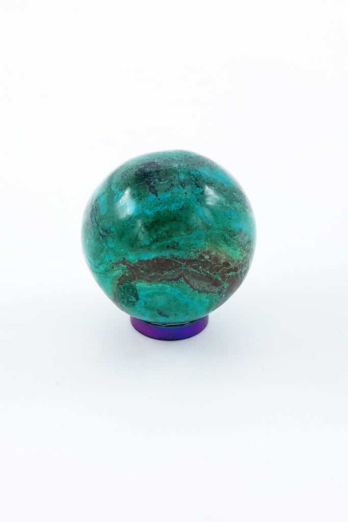 Chrysocolla Sphere A - Zero Point Crystals