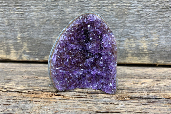 "Amethyst Freeform Geode 2.5"" - Zero Point Crystals"