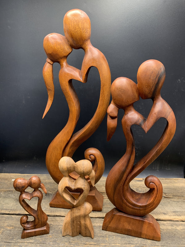 With Love Wood Sculpture - Zero Point Crystals