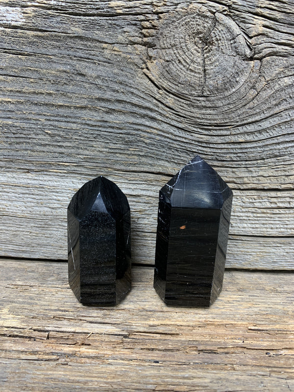 Black Tourmaline Obelisk  7864 - Zero Point Crystals