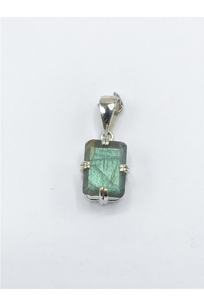 Faceted Natural Stone Pendant - Zero Point Crystals