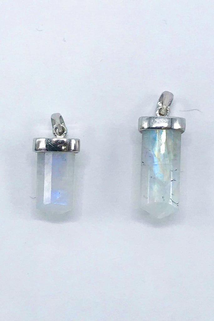 Moonstone Tri Barrel Pendant - Zero Point Crystals