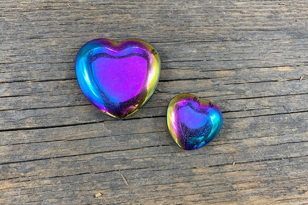 Rainbow Hematite Heart - Zero Point Crystals