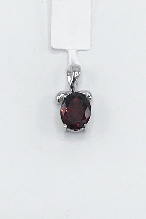 Idaho Garnet Oval Pendant - Zero Point Crystals