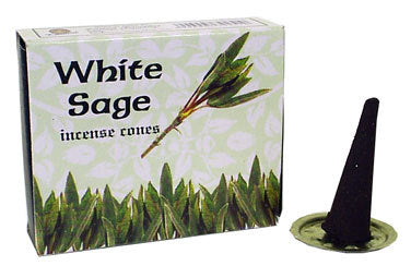 White Sage Incense Cones - Zero Point Crystals