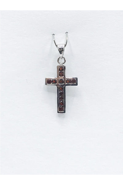 Idaho Garnet Cross Pendant - Zero Point Crystals
