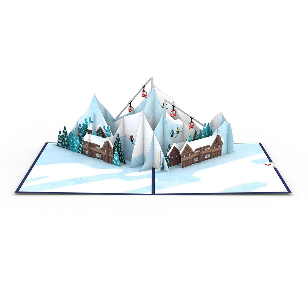 Ski Village Pop-Up Card - Zero Point Crystals