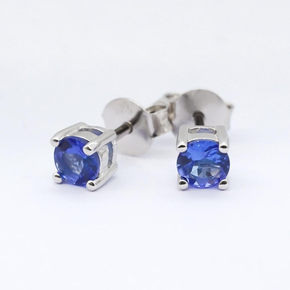 Tanzanite Stud Earrings - Zero Point Crystals