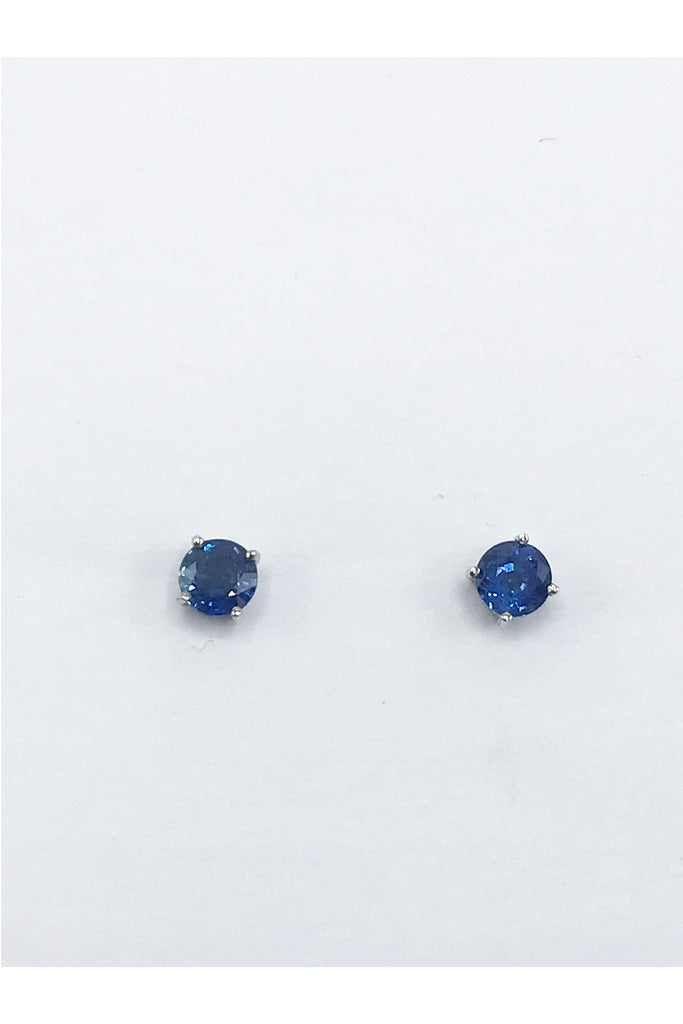 Sapphire Earrings - Zero Point Crystals