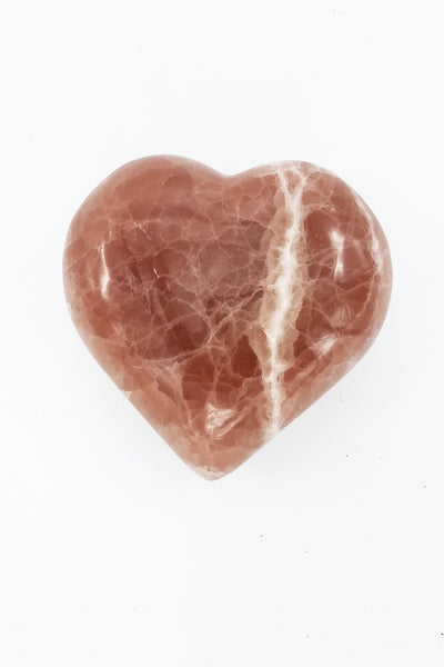 Salmon Calcite Heart - Zero Point Crystals