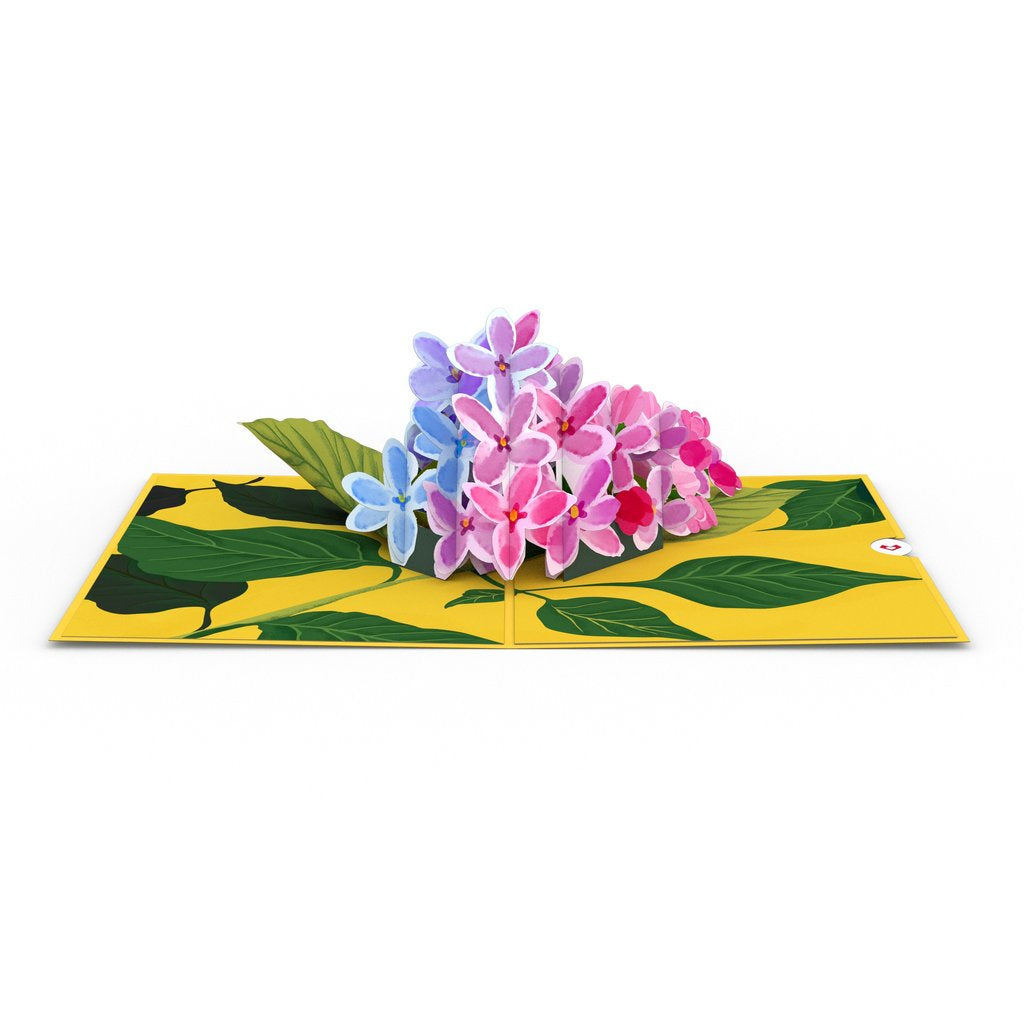 Lilacs Pop Up Card - Zero Point Crystals