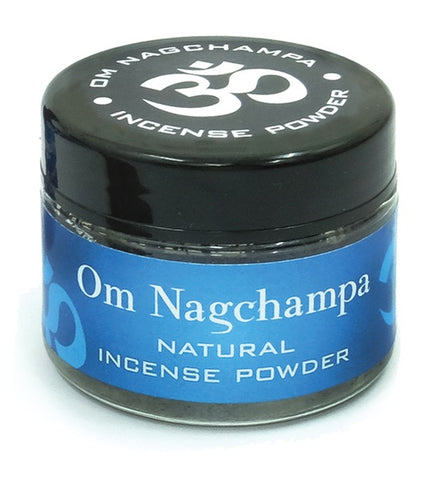 Om Nagchampa Incense Powder Jar - Zero Point Crystals