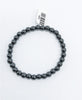 Hematite Bead (Stretch) Bracelet - Zero Point Crystals