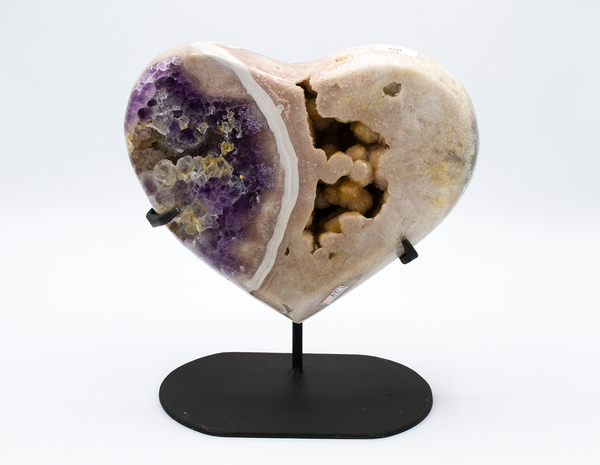 Amethyst Two Tone Heart - Zero Point Crystals