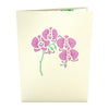 Orchid Arrangement Pop Up Card - Zero Point Crystals