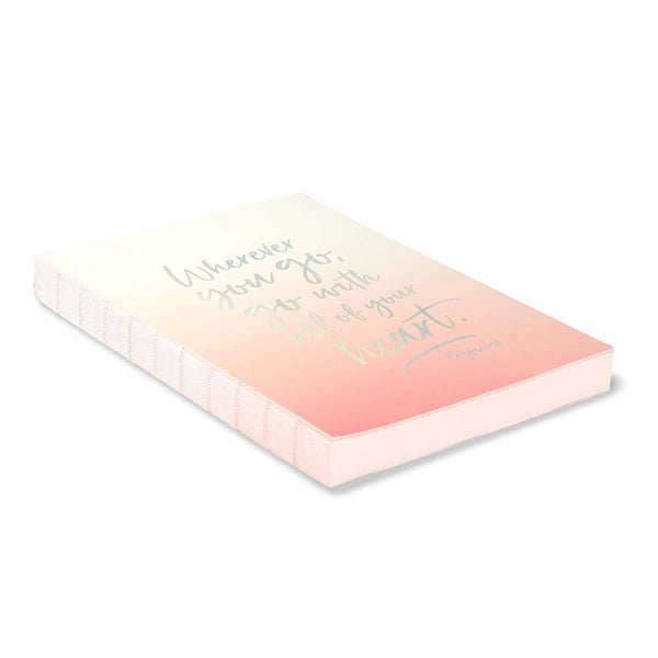 Wherever You Go, Go With Your Heart Journal - Zero Point Crystals
